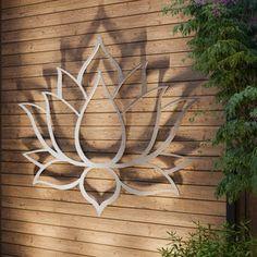 Modern Outdoor Wall Art, Outdoor Walls, Outdoor Metal Wall Decor, Outdoor Screens, Silver Wall Art, Silver Walls, Word Art, Large Metal Wall Art, Garden Wall Art