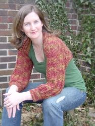 Lacey Cable Shrug pattern by Briar Rose Fibers