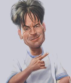 Caricature Charlie Sheen