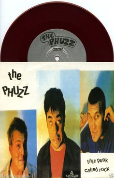 "THE PHUZZ 1993 'THIS PUNK CALLED ROCK' CALIFORNIA PUNK 7"" NM RED VINYL #thephuzz #PunkNewWavePunkHardcoreSkatePunkOi"