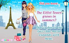 #Fun fact for #fabulous mademoiselles! ***  #Game's link: http://www.girlgames4u.com/search.html?q=paris&domain=girlgames4u.com ✿ ✿ ✿