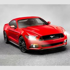 red Ford Mustang 2014