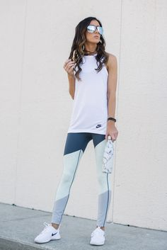 Cute Sporty Outfits For School You Must Try 29 Outfits Leggins, Yoga Pants Outfit, Kimono Outfit, Women's Pants, Leggings Fashion, Cute Sporty Outfits, Sport Outfits, Sporty Chic, Cute Athletic Outfits