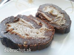 Gaštanová roláda Russian Recipes, Banana Bread, Muffin, Pie, Breakfast, Fitness, Polish, Basket, Torte