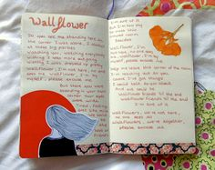 "magicalgloom: ""New page from my art journal Wallflower // Priscilla Ahn """