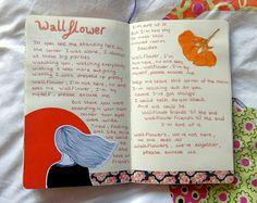 "magicalgloom: ""New page from my art journal Wallflower // Priscilla Ahn """