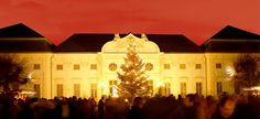 """The old residential wing of Schloss Halbturn, the most important baroque castle in Burgenland, now houses the castle's hotel """"Knappenstoeckl"""". With Lake Neusiedl nearby the castle hotel Village Inn, Hotels, Austria, Winter, Christmas Time, Palace, Castle, Louvre, Old Things"""