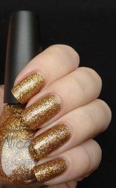 dark gold Nail Polish Sale, Nicole By Opi, Nail Pictures, Gold Glitter Nails, Great Nails, Opi Nails, Creative Nails, Nail Tutorials, Gorgeous Nails