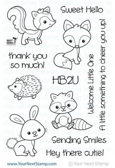 - This super sweet stamp set designed by Macy Wong is perfect for all sorts of occasions...welcome baby cards, baby shower invites, birthday cards, thank you notes, scrapbook pages and so much more! C