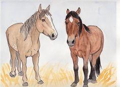 Horses by IckyDog on DeviantArt