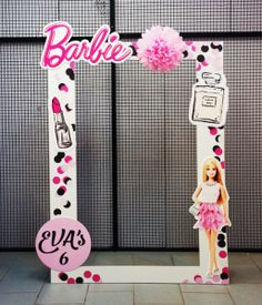 Barbie Party Decorations, Barbie Theme Party, Barbie Birthday Cake, Princess Birthday Party Decorations, 6th Birthday Parties, 7th Birthday, Bolo Barbie, Party Frame, Ideas