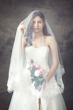 Wedding dresses with veils #weddingdress #weddingveil