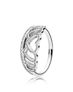 Pandora Ring - Sterling Silver & Cubic Zirconia Hearts Tiara