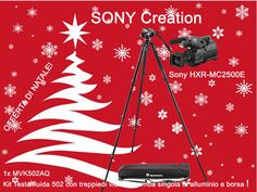 Offerta di Natale!  Sony HXR-MC2500E + Kit Manfrotto MVK502AQ  Kit Testa fluida 502 con treppiedi video a gamba singola in alluminio e borsa Info: https://www.adcom.it/it/ripresa-registrazione/camcorders-hd-hd-ready/1-4/sony-broadcast-hxr-mc2500e-promo-christmas/p_n_14_347_2848_37513 Valida fino al 31/12/2015!