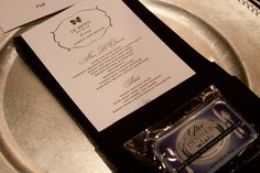 Menu cards and after-dinner mints