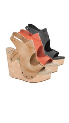 Fiore - Hand Burnished Leather Wooden Wedge Sandals | Max Studio Official by Leon Max | MaxStudio.com