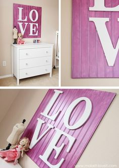 Pinterest Wall Decor | DIY HOME DECOR- Wall Decor)))))) probably get a piece of scrap beadboard. For the bedroom.