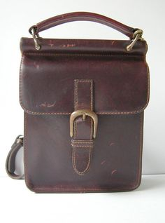 Vintage Mini Leather Cross Body Messenger Mail Bag