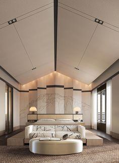 Modern Interior Design, Luxury Interior, Interior Architecture, Bedroom Bed Design, Modern Bedroom, H Design, House Design, Home Building Design, Master Room