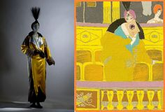 A Paul Poiret theater coat from 1912 and an illustration of the coat by Georges Lepape for the Gazette du Bon Ton , an important fashion periodical published between 1912 and 1925