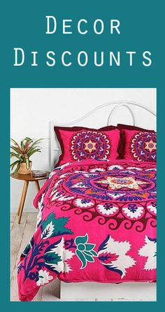 Get discounts on dorm decor: Urban Outfitters, Nordstrom, Anthropologie, Target, & more!! <3