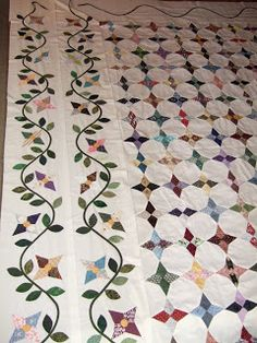 Periwinkle quilt  Flourishing Palms: Hand Piecing