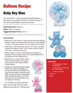Baby Boy Blue — Baby Shower balloon bouquets.
