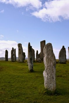 Callanish standing stones, Isle of Lewis, outer Hebrides (Innse Gall in Gaelic), Scotland.