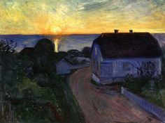 Edvard Munch - Sunrise in Åsgårdstrand