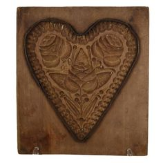 Wooden Gingerbread Mold   From a unique collection of antique and modern sculptures and carvings at https://www.1stdibs.com/furniture/folk-art/sculptures-carvings/