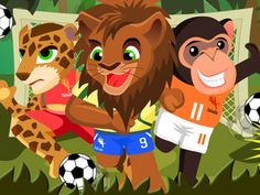 soccer animals | ... Animal Football 2010: A funny penalty shootout game with wild animals