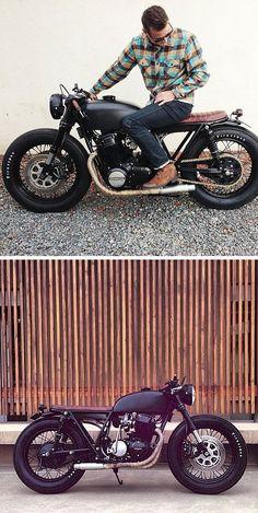 Matte black Honda CB brat cafe                                                     Click here to download                        ...