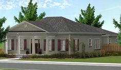 <!-- Generated by XStandard version 2.0.0.0 on 2013-09-16T16:13:36 -->    <ul>  <li>Four columns hold up the stately front porch of this Southern home plan with an attractive hip roof.</li>  <li>There are two coat closets off the foyer that opens to the formal dining room.</li>  <li>Nearby, the two family bedrooms share a cozy den, perfect for giving the kids their own space.</li>  <li>The kitchen has a big island that seats three people for casual dining.</li>  <li>From the kitchen you can…