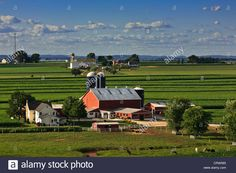 Beautiful Amish Farm Amish Pinterest