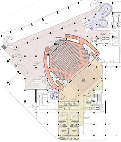 of Ciputra Artpreneur / Benoy - 16 Ciputra Artpreneur,Floor PlanCiputra Artpreneur,Floor Plan Theater Architecture, Cultural Architecture, Architecture Plan, Architecture Details, Auditorium Plan, Auditorium Design, Theater Plan, Drama Theater, Ceiling Plan