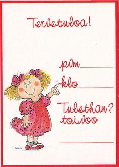 Kutsut, tyttö  (Invitations for  a girl)