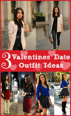 3 Looks - Which look would you wear? #Valentines Date Outfits