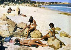 Clifton 1967 Miss Moss · Bygone Cape Town Dublin, Clifton Beach, Miss Moss, Cape Town South Africa, Beaches In The World, African History, Bikini Beach, Beach Babe, Vintage Photographs