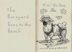 Mimi Bo-Peep-Page 1, Round 4, Rhodia Journal Swap by molossus, who says Life Imitates Doodles, via Flickr
