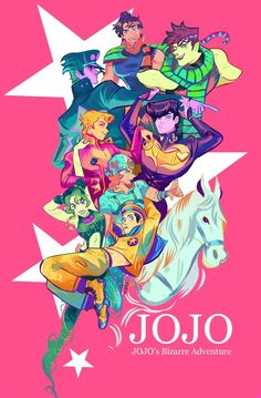 JOJO's bizarre Adventure, an art print by Mai Jojo Bizarre, Bizarre Art, Gs 1200 Adventure, Jojo's Adventure, Jojo's Bizarre Adventure Anime, Jojo Bizzare Adventure, Marceline, Tamako Love Story, Jojo Parts