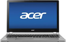 """No disk drive - Acer - Aspire 15.6"""" Touch-Screen Laptop - 8GB Memory - 500GB Hard Drive - Silver"""