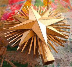 Cardboard Christmas Star cardboard christma, cardboard star, christmas trees, tree toppers, christma star, christmas stars