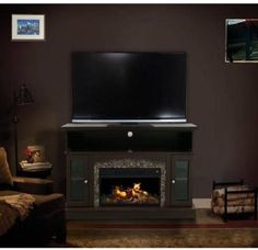 Better Homes And Gardens Cherry Media Fireplace For Tvs Up To 54 Electric Fireplaces Mantels