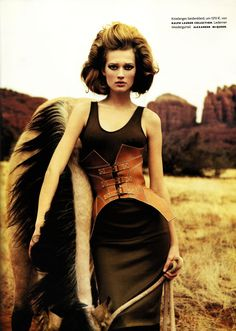 Magazine: Vogue Germany (March 2009) Editorial: Mild West Photographer: Greg Kadel Model: Toni Garrn