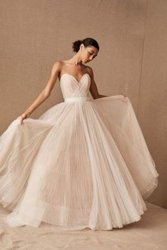 View larger image of Watters Rosen Gown Sophisticated Wedding Dresses, Simple Wedding Gowns, How To Dress For A Wedding, Plus Size Wedding, Dream Wedding Dresses, Gown Wedding, Elegant Wedding, Perfect Wedding, Tulle Ball Gown