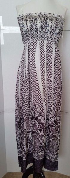 5e786bcf1fa Anthropologie Lapis Strapless Dress Womens ONE SIZE Brown Elastic Pleated   Lapis  Sundress  Casual