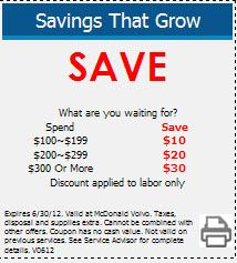 volvo service coupon  visit mcdonaldvolvo.com to make your Volvo Service appointment in the Denver area