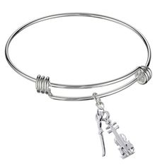 * Penny Deals * - Adjustable Expandable Silvertone Stainless Wire Bangle Bracelet With Unique Pendant Charm To Choose From -- Want to know more, click on the image.