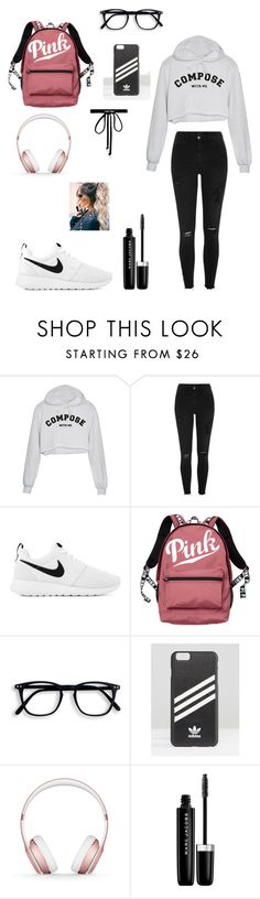 """Whaou ❤️#lelinators"" by lisa-lena01 ❤ liked on Polyvore featuring River Island, NIKE, Victoria's Secret, adidas, Beats by Dr. Dre, Marc Jacobs and Joomi Lim"