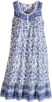 Gorgeous Cotton Floral Batik Gown Puts You In the Mood For Fun Kurti Designs Party Wear, Kurta Designs, Blouse Designs, Cotton Nighties, Cotton Dresses, Night Gown Dress, Night Dress For Women, Indian Designer Wear, Blouse Styles